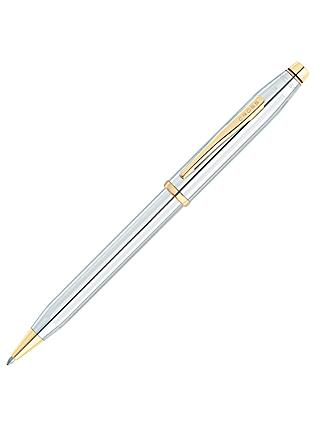 Cross Century II Ballpoint Pen, Medalist Chrome/Gold