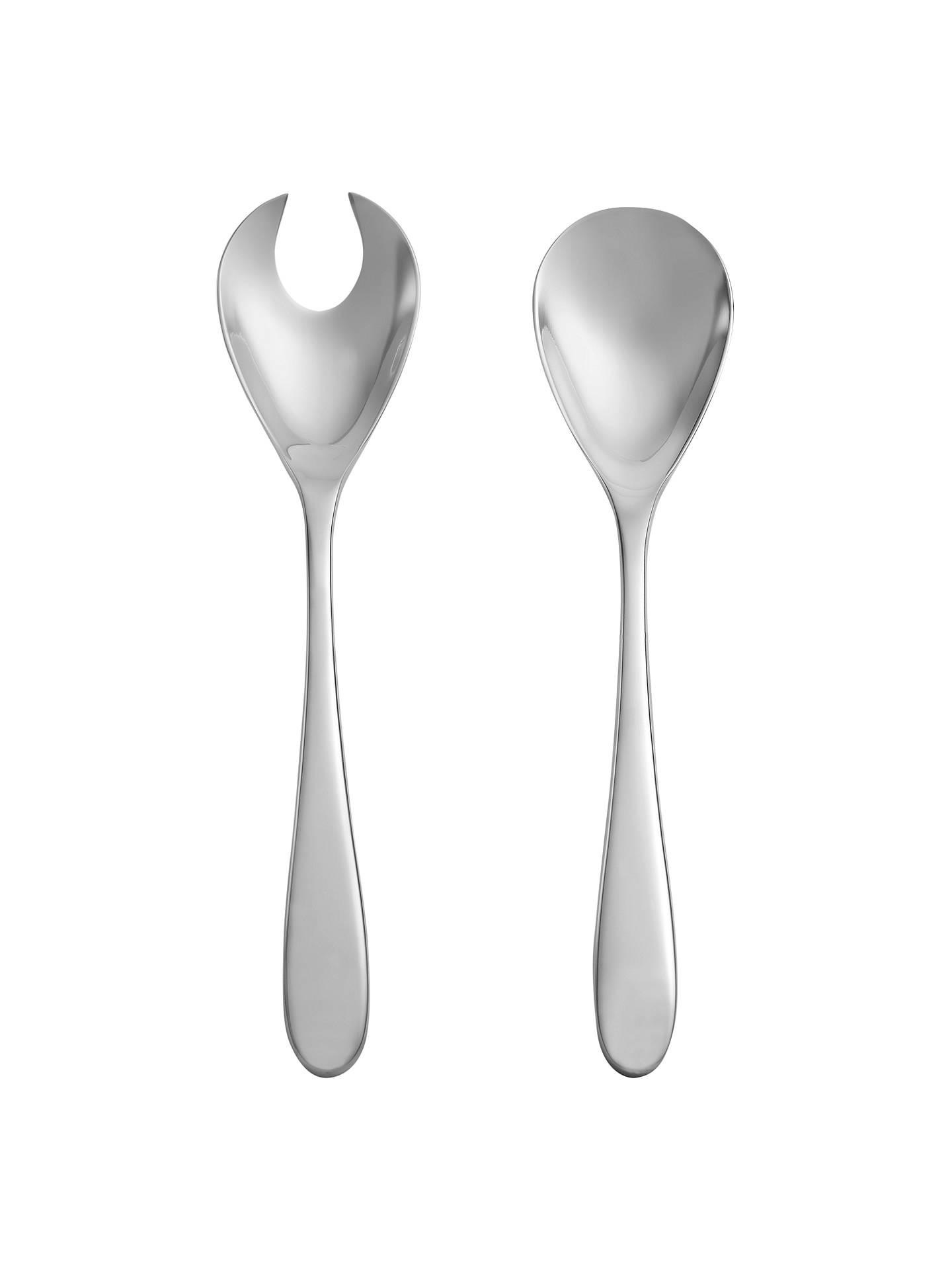 Buy John Lewis & Partners Outline Salad Servers, Stainless Steel Online at johnlewis.com