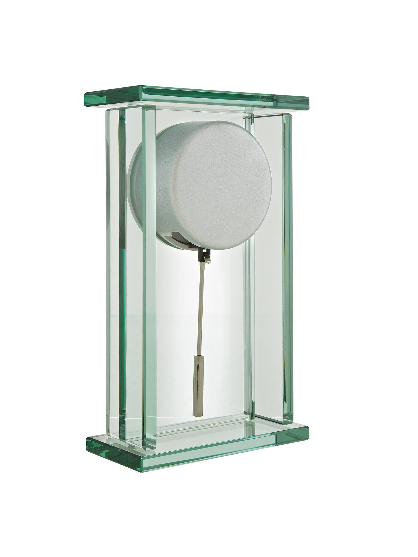 Buy John Lewis & Partners Theia Pendulum Glass Mantel Clock, Clear Online at johnlewis.com