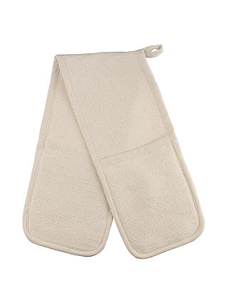 Buy John Lewis & Partners Double Oven Glove, Cream Online at johnlewis.com