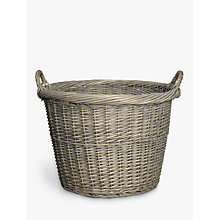 Buy John Lewis Wicker Log Basket, Grey Online at johnlewis.com
