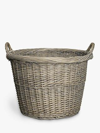 John Lewis U0026 Partners Wicker Log Basket, ...