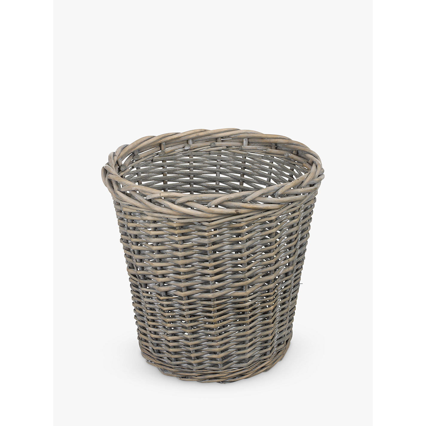Wastepaper Basket Fascinating Buy John Lewis Wicker Wastepaper Bin Grey Wash  John Lewis Inspiration Design