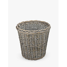 Buy John Lewis Wicker Wastepaper Bin, Grey Wash Online at johnlewis.com