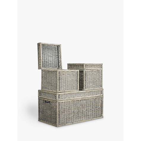 Buy John Lewis Wicker Trunks, Set of 3, Grey Online at johnlewis.com