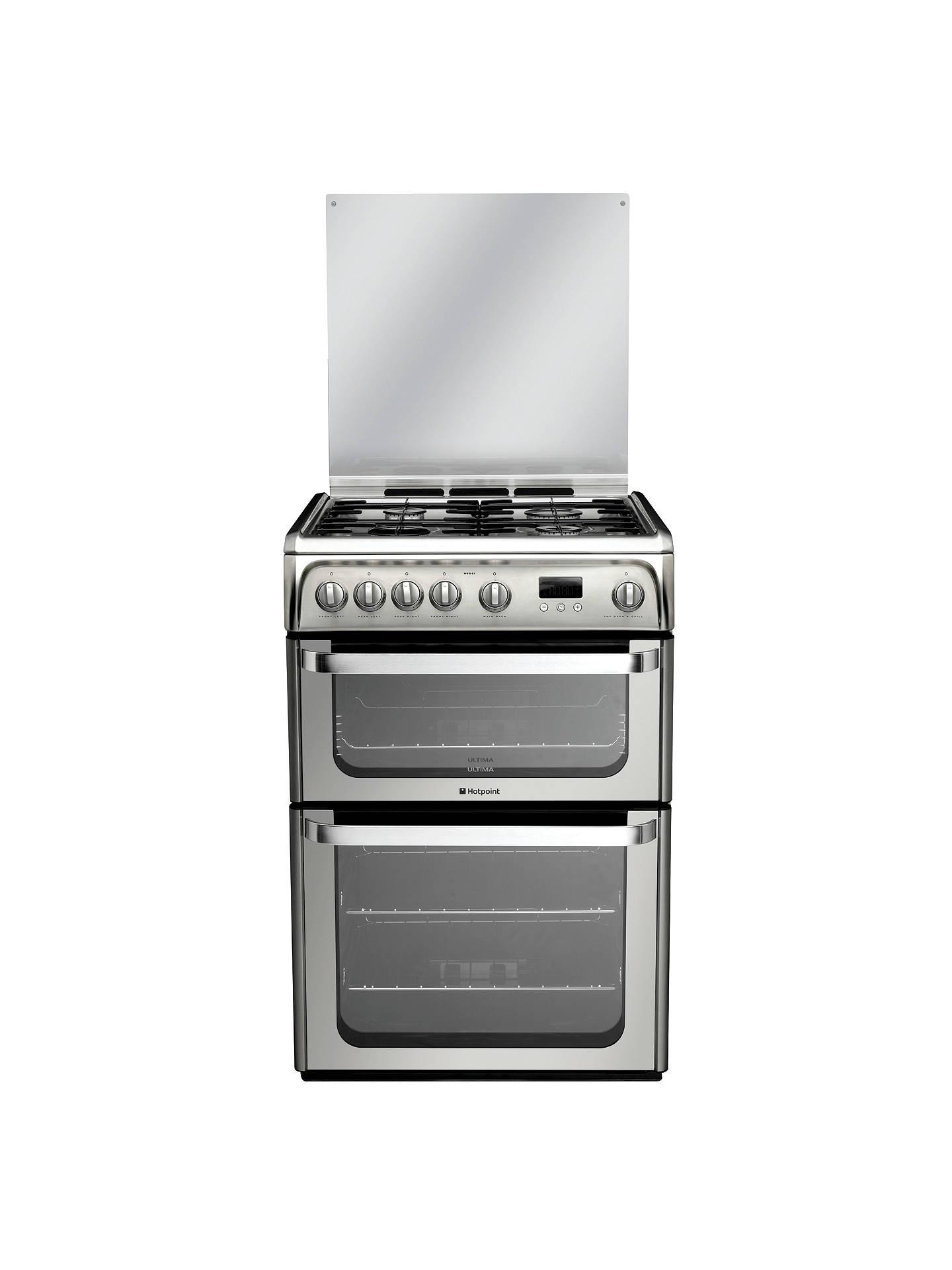 hotpoint hug61x ultima gas cooker stainless steel at john. Black Bedroom Furniture Sets. Home Design Ideas