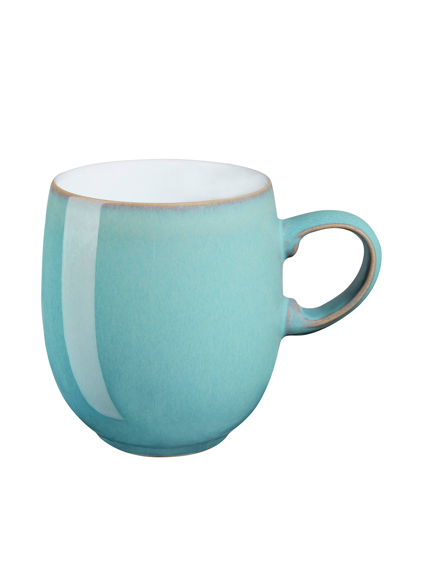 BuyDenby Azure Large Curve Mug, Blue, 400ml Online at johnlewis.com