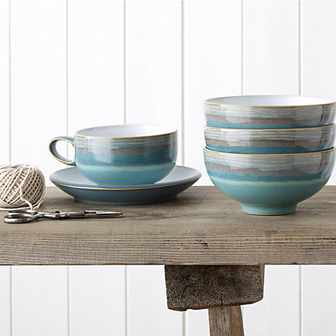 Buy Denby Coast Tea/Coffee Cup, Stone Online at johnlewis.com