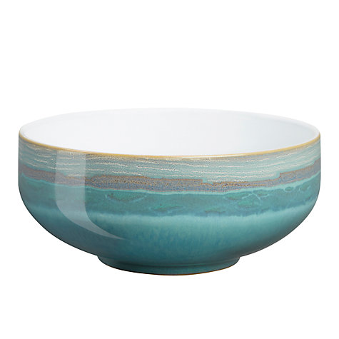 Buy Denby Azure Coast Cereal Bowl, Blue, Dia.15.5cm Online at johnlewis.com