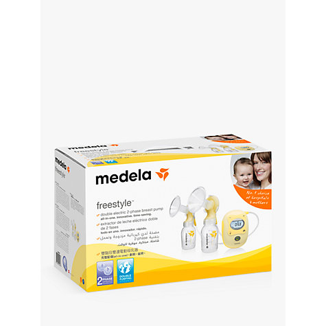 Buy Medela Freestyle Double Breast Pump with Calma Teat Online at johnlewis.com