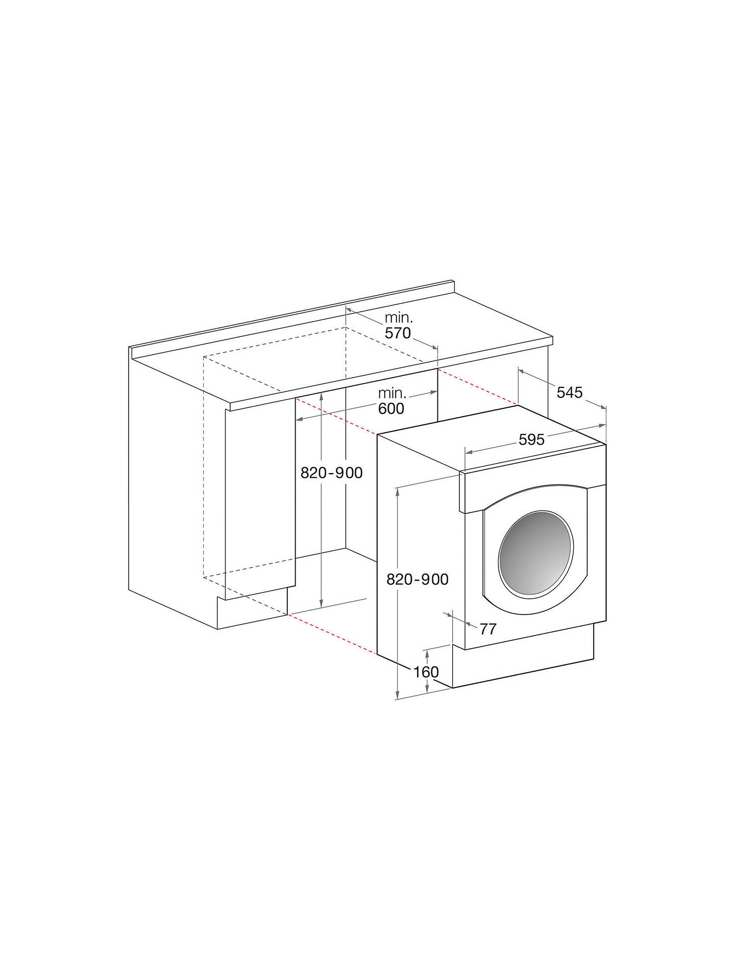 Indesit iwde126 integrated washer dryer at john lewis partners for John lewis home design service reviews