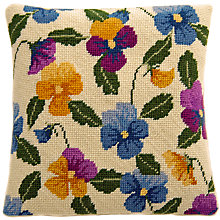 Buy Cleopatra's Needle Pansy Pillow Tapestry Kit Online at johnlewis.com