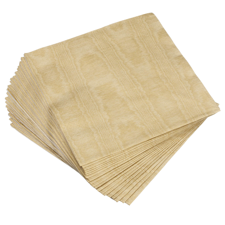 BuyCaspari Paper Dinner Napkins Pack of 20 40 x 40cm Gold Moire Online ...  sc 1 st  John Lewis & Caspari Paper Dinner Napkins Pack of 20 40 x 40cm at John Lewis
