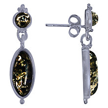 Buy Goldmajor Amber Drop Earrings, Silver/Green Online at johnlewis.com