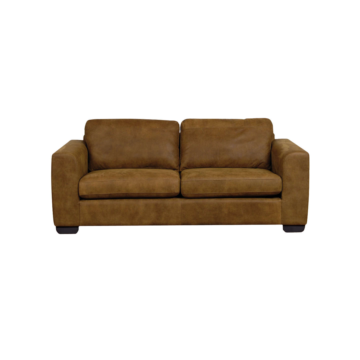 BuyJohn Lewis Felix Large Semi Aniline Leather Sofa, Ashanti Brown Online  At Johnlewis.