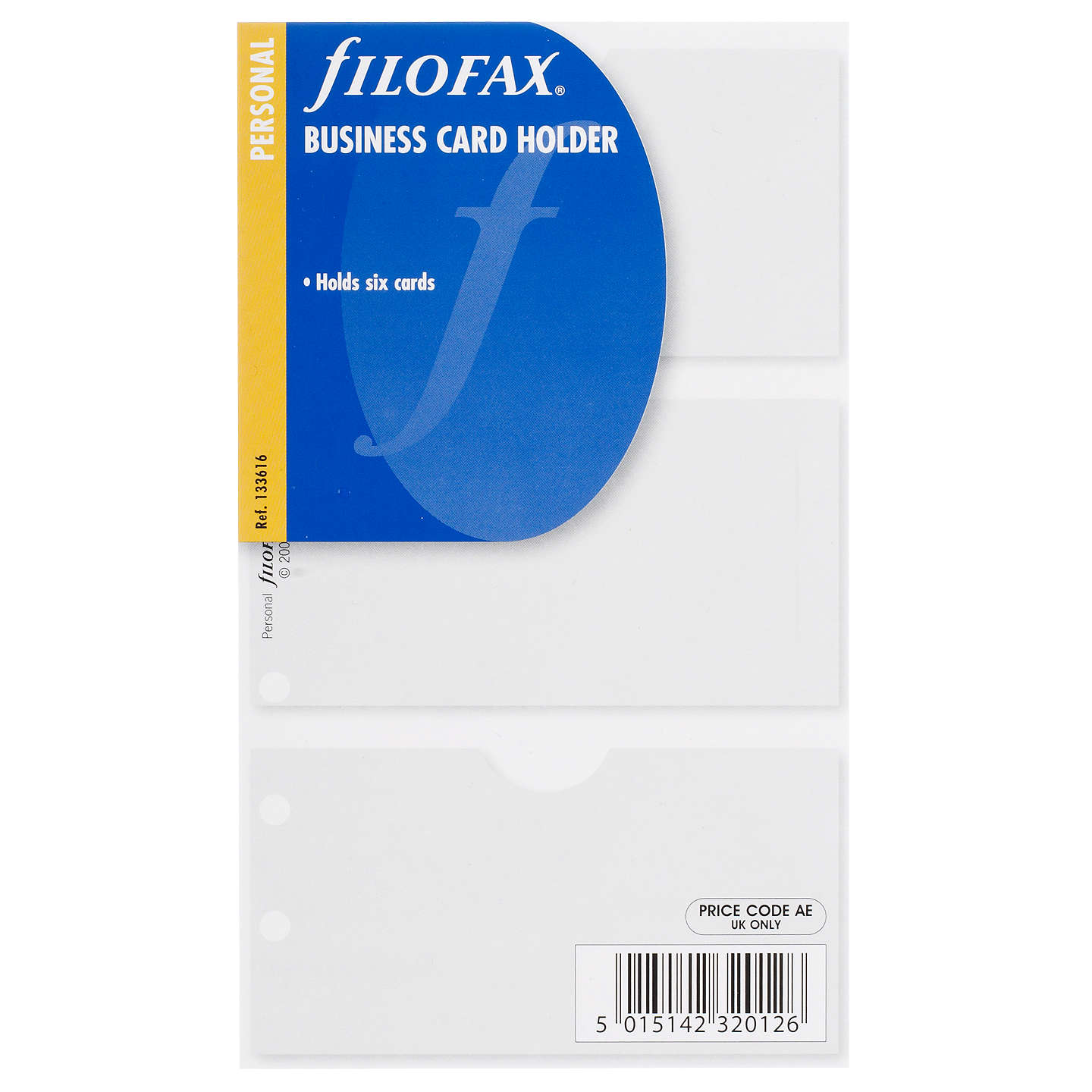 Filofax Personal Inserts, Business Card Holder at John Lewis