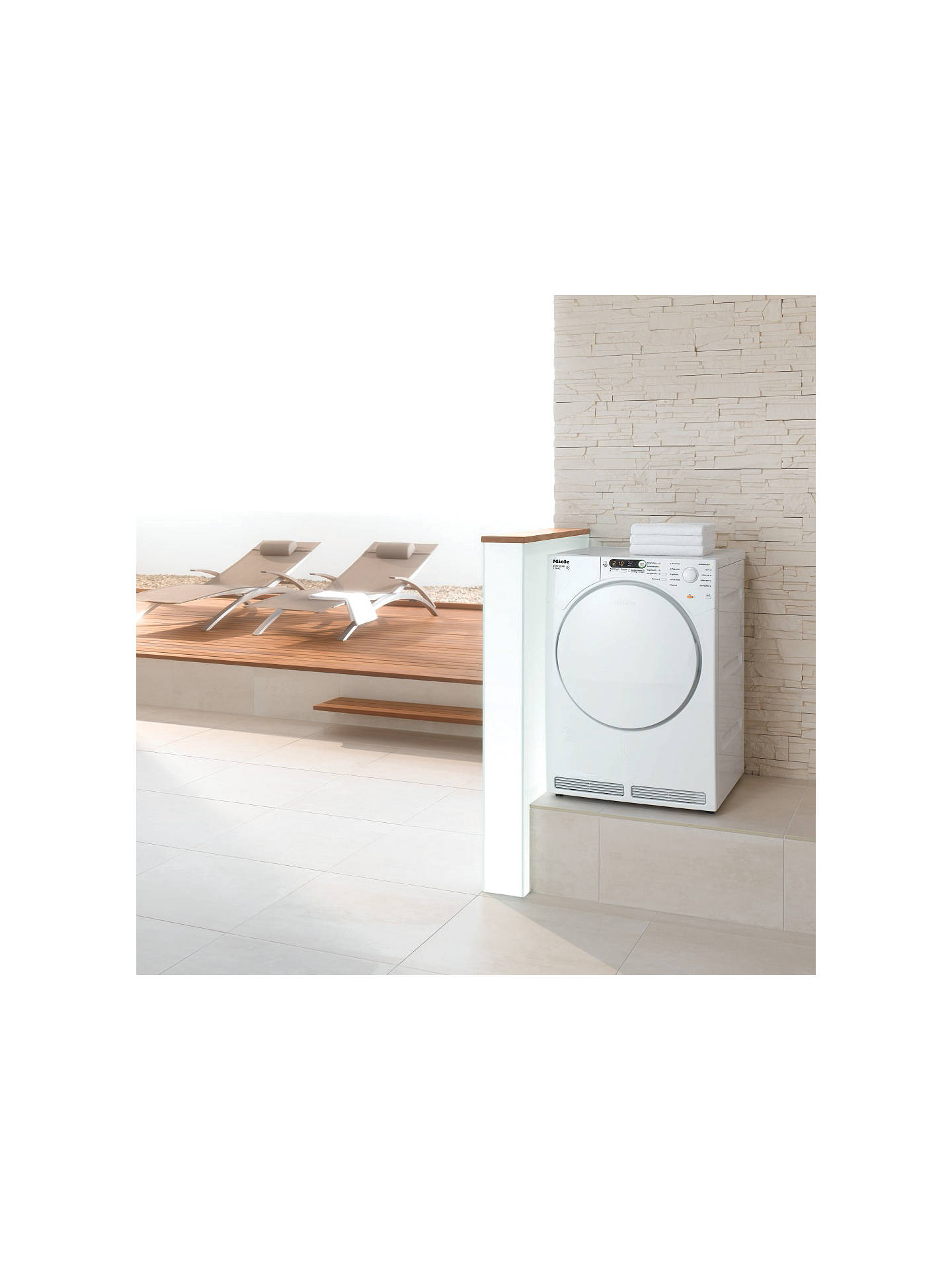 BuyMiele T7934 Vented Tumble Dryer, 7kg Load, C Energy Rating, White Online at johnlewis.com