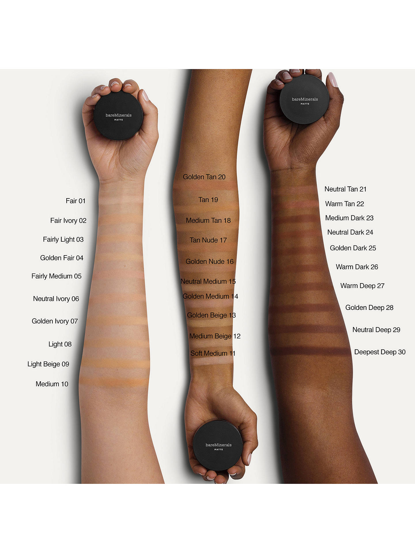 Buy bareMinerals Matte Foundation SPF 15, Golden Dark Online at johnlewis.com