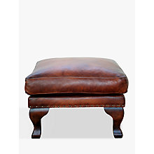 Buy John Lewis Compton Leather Footstool, Antiqued Online at johnlewis.com