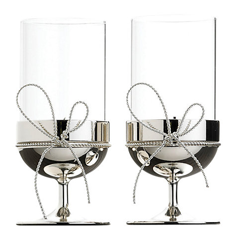 Buy Vera Wang for Wedgwood Love Knots Tealight Holders, Set of 2 Online at johnlewis.com