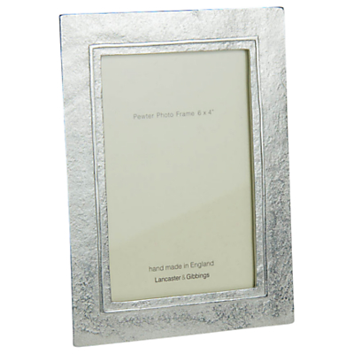 Product photo of Lancaster and gibbings raised line pewter photo frame 4 x 6 10 x 15cm