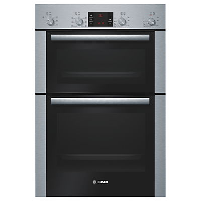 Image of BOSCH Avantixx HBM43B250B Electric Double Oven - Brushed Steel, Brushed Steel