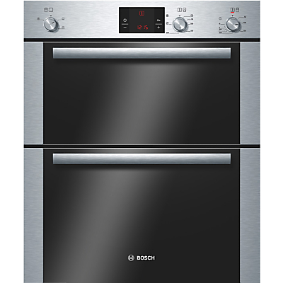 Image of 600mm Built-under Double Electric Oven LED Brushed St