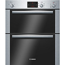 Buy Bosch HBN13B251B Double Built-Under Electric Oven, Stainless Steel Online at johnlewis.com