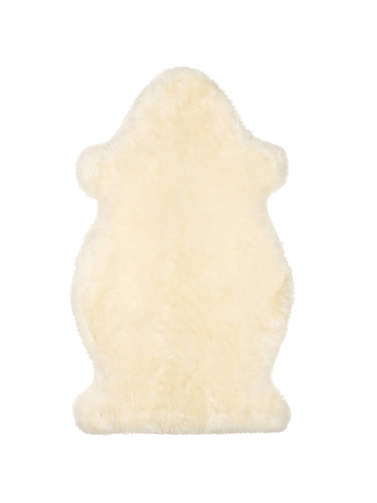 John Lewis Partners Sheepskin Baby Comforter Ivory At John Lewis