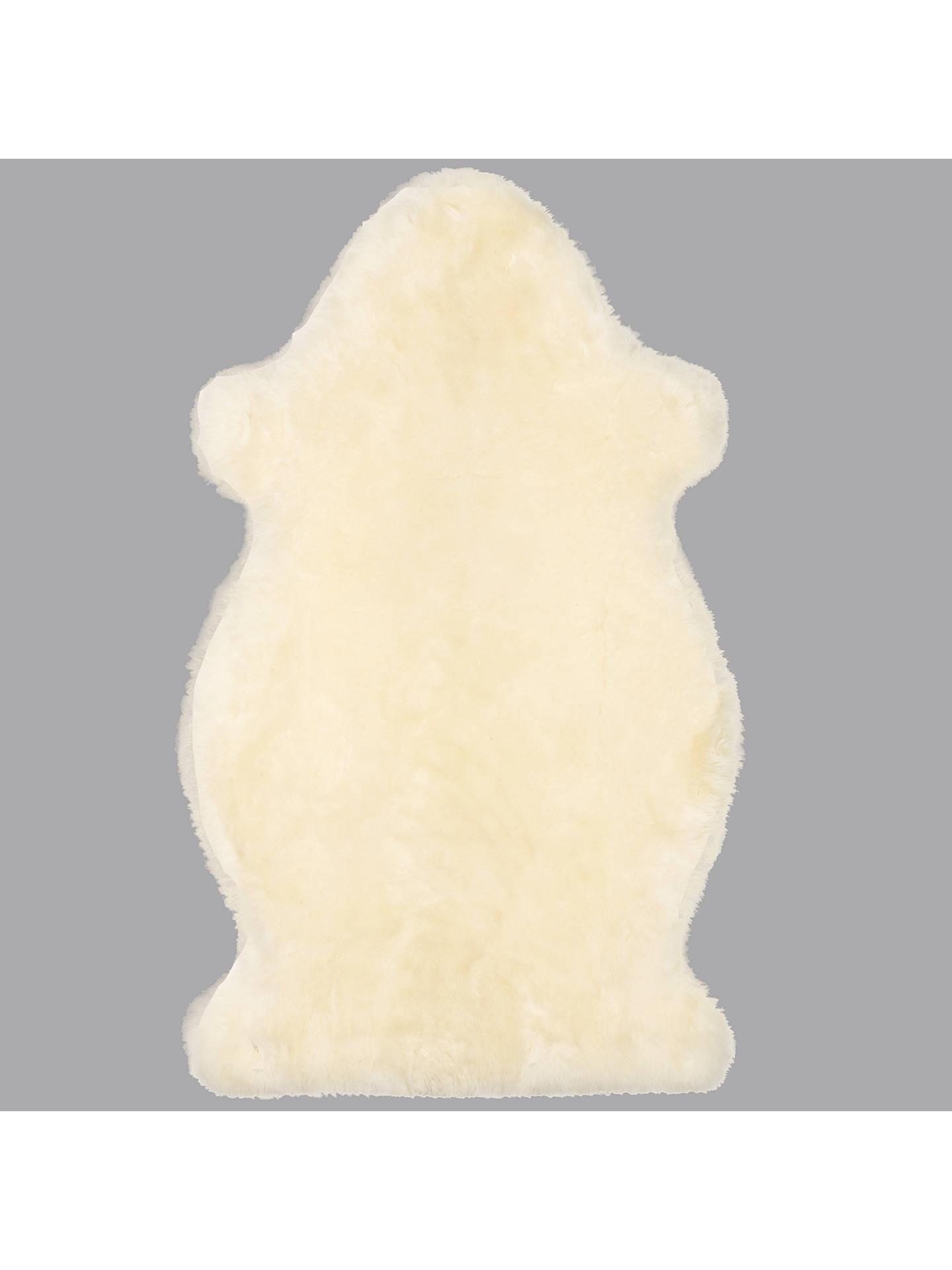 John Lewis Partners Sheepskin Baby Comforter Ivory