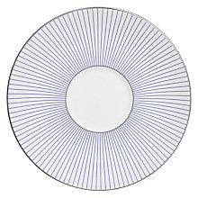 Buy Jasper Conran for Wedgwood Pinstripe Tea Saucer, SIlver/White Online at johnlewis.com