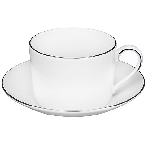 Buy Vera Wang for Wedgwood Blanc sur Blanc Tea Cup, 0.15L Online at johnlewis.com