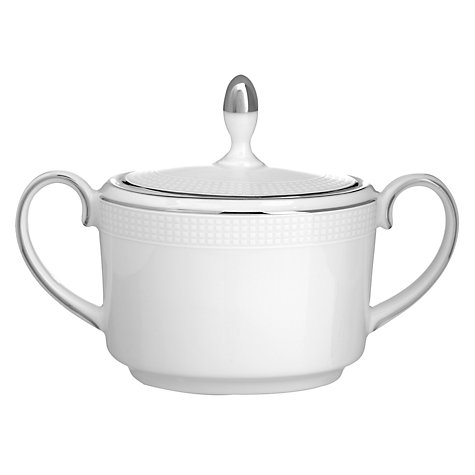 Buy Vera Wang for Wedgwood Blanc sur Blanc Covered Sugar Box Online at johnlewis.com
