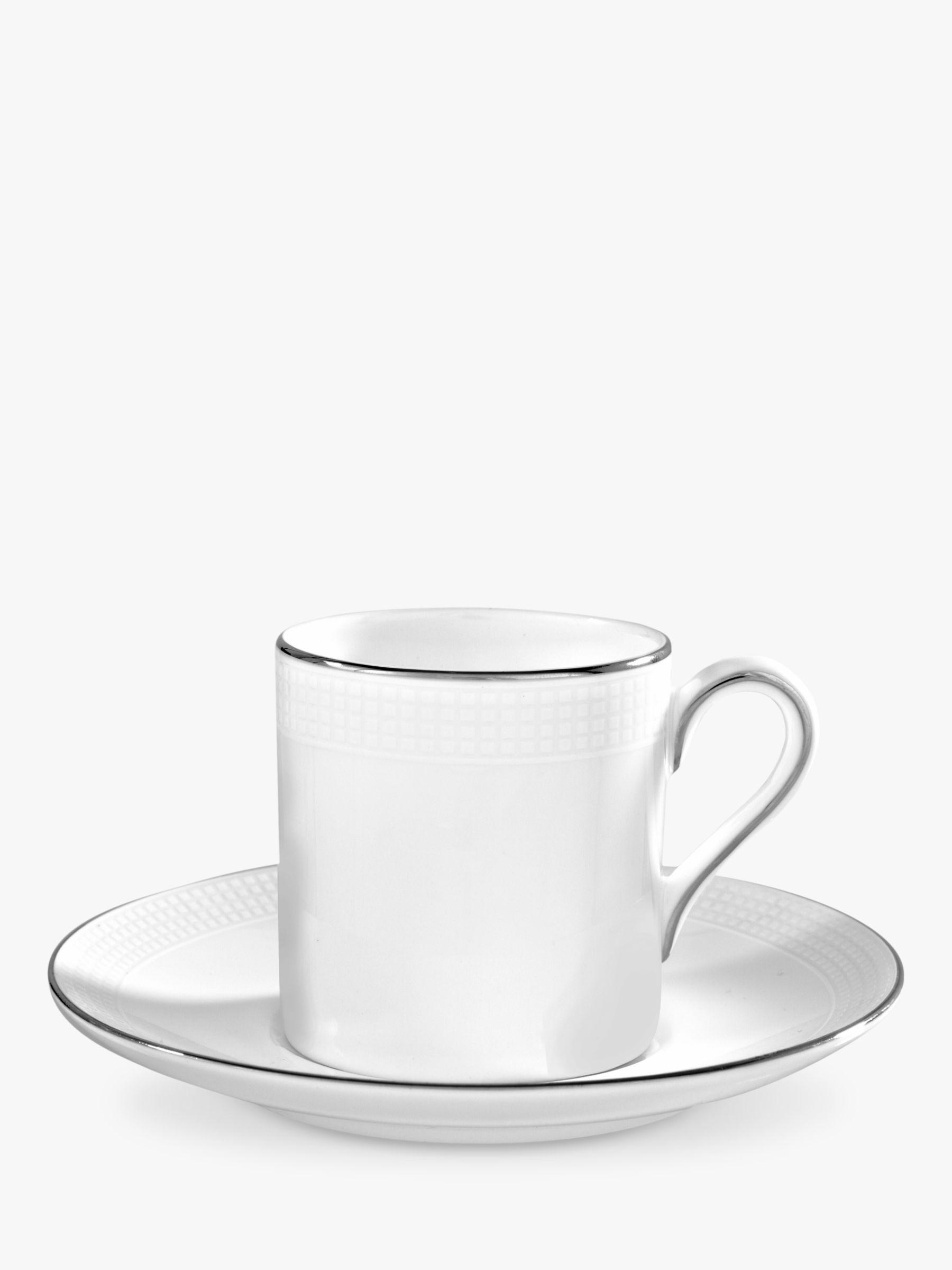 Vera Wang For Wedgwood Blanc Sur Blanc Espresso Saucer At John Lewis Partners