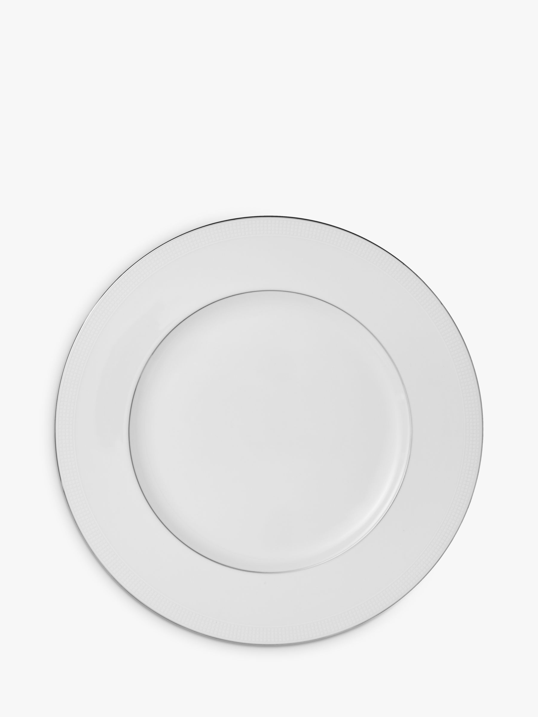 Vera Wang for Wedgwood Vera Wang for Wedgwood Blanc sur Blanc Plate 20cm, White