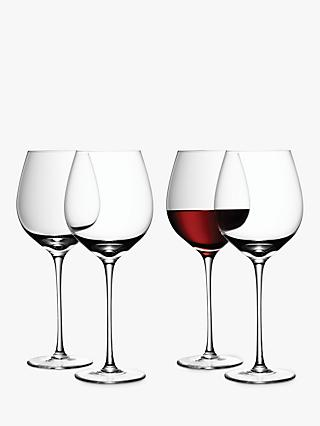 LSA International Bar Collection Red Wine Glasses, Set of 4, 700ml, Clear
