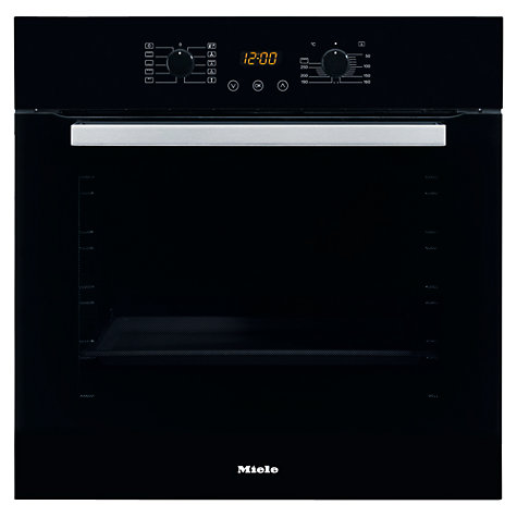 Buy Miele H4810B Single Electric Oven, Black Online at johnlewis.com