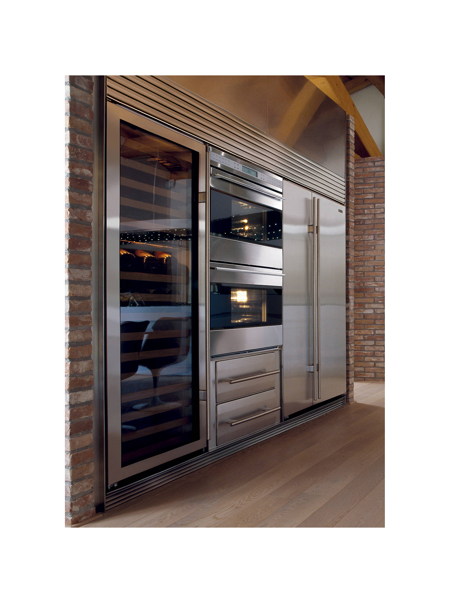 Sub Zero Icbbi42s S Th Integrated Side By Side Fridge Freezer Stainless Steel At John Lewis Partners