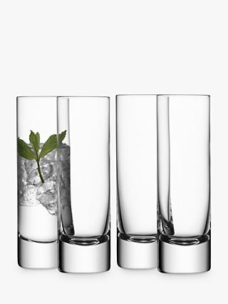 LSA International Bar Collection Highballs, Box of 4, 250ml, Clear