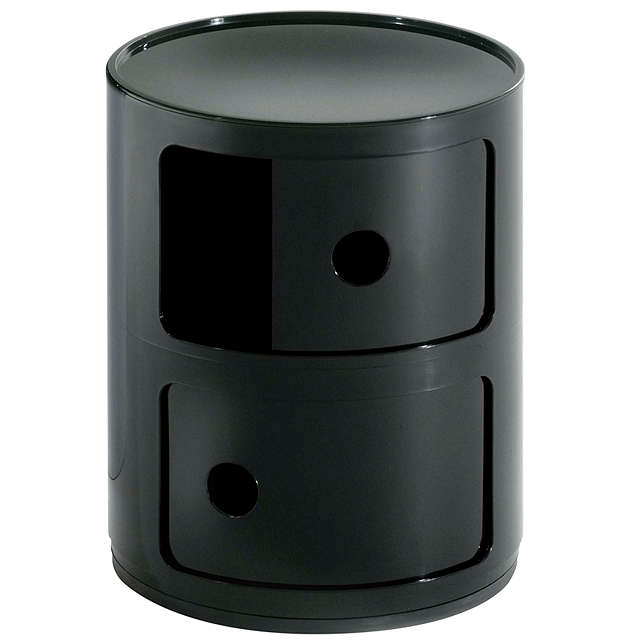 BuyKartell Componibili Circular Storage Unit, 2 Tier, Black Online at johnlewis.com
