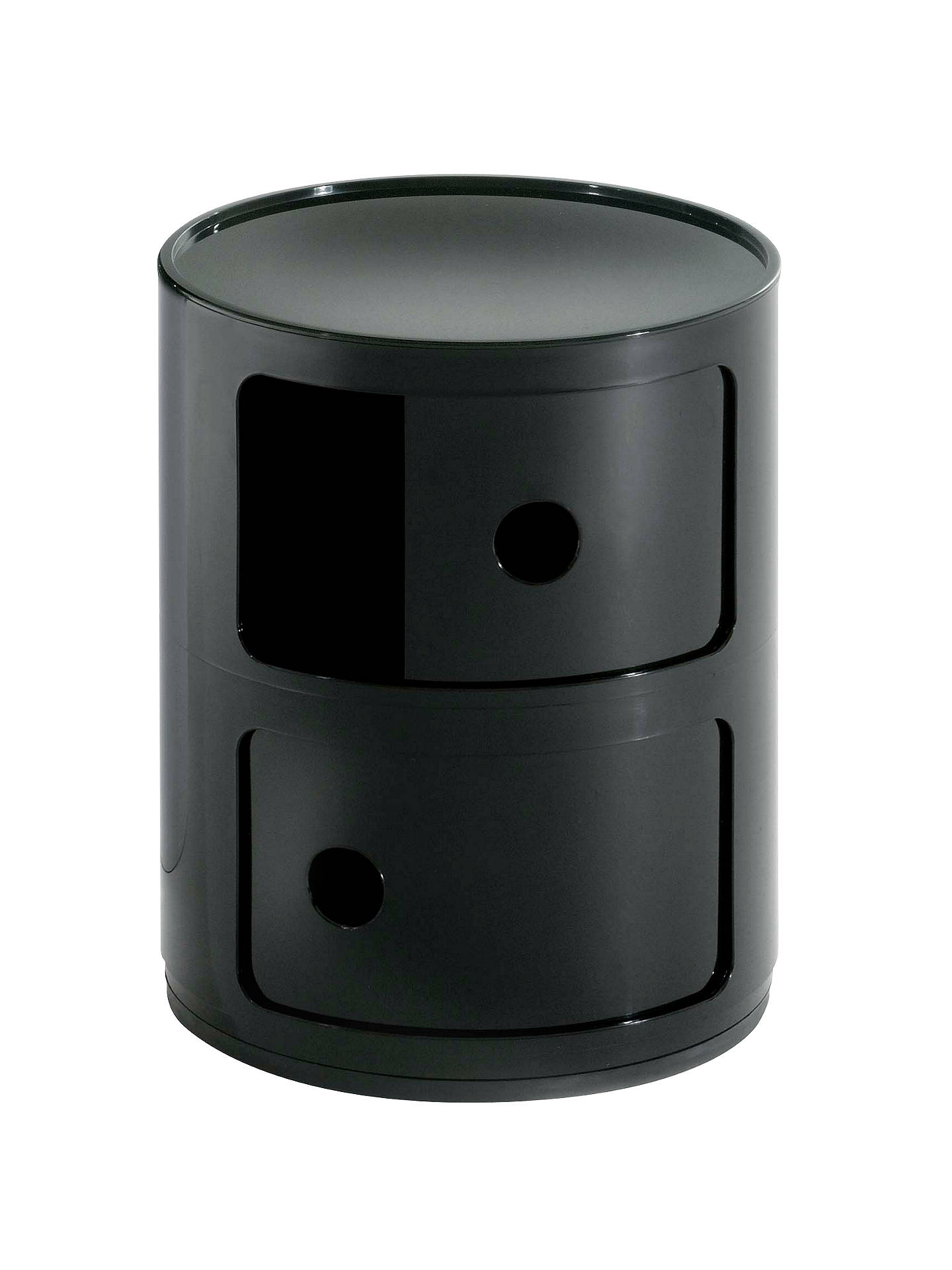 Buy Kartell Componibili Circular Storage Unit, 2 Tier, Black Online at johnlewis.com