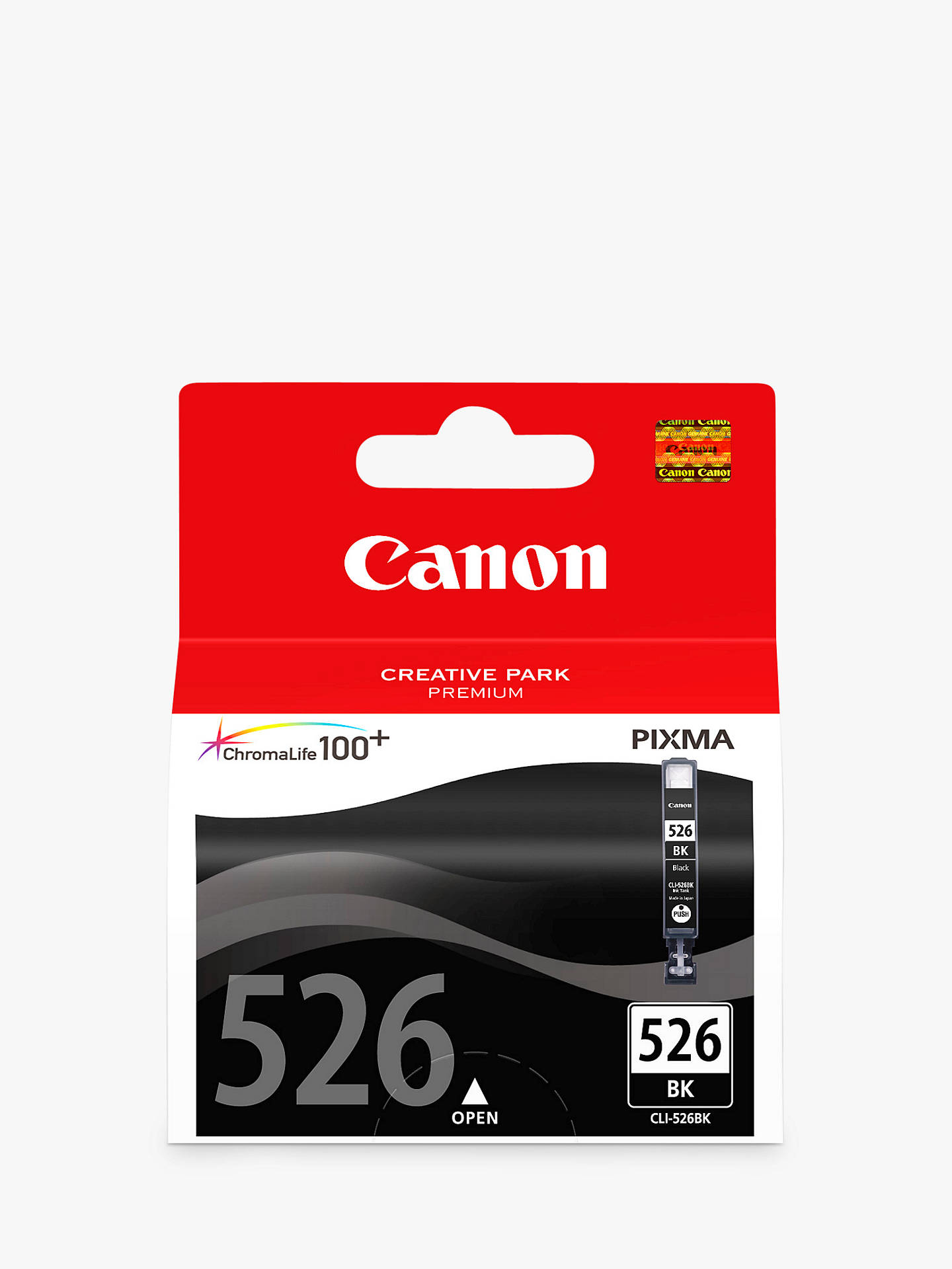 BuyCanon PIXMA CLI-526BK Inkjet Cartridge, Black Online at johnlewis.com