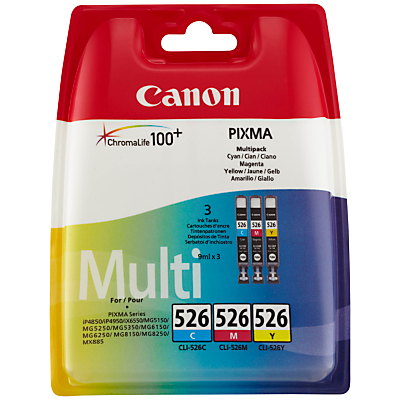 Product photo of Canon cl526 colour inkjet cartridge multipack