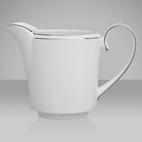 Buy Vera Wang for Wedgwood Blanc sur Blanc Cream Jug Online at johnlewis.com