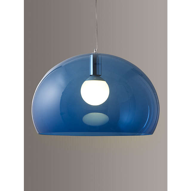 Kartell Fly Ceiling Light Petrol Blue At John Lewis