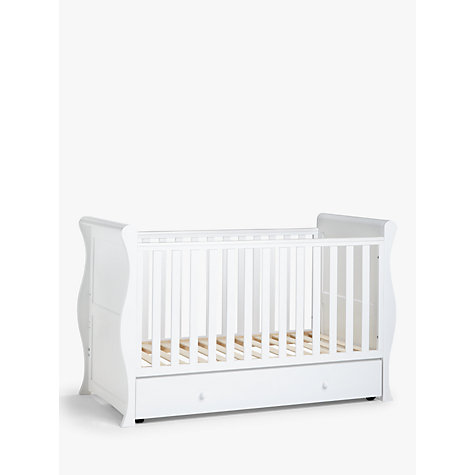 Buy John Lewis Martha Sleigh Cotbed, White Online at johnlewis.com