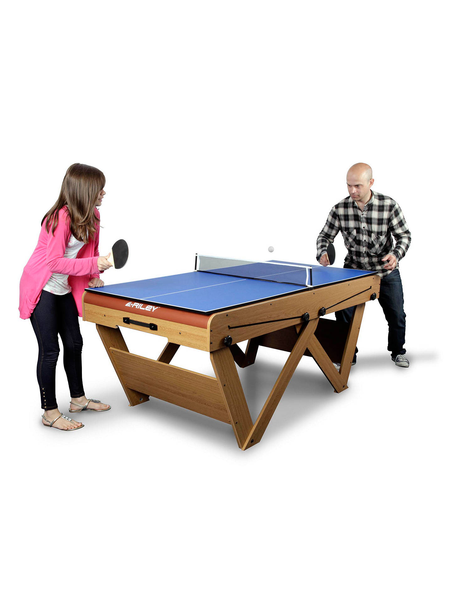 BuyBCE 6ft Deluxe Pool and Table Tennis Table Online at johnlewis.com