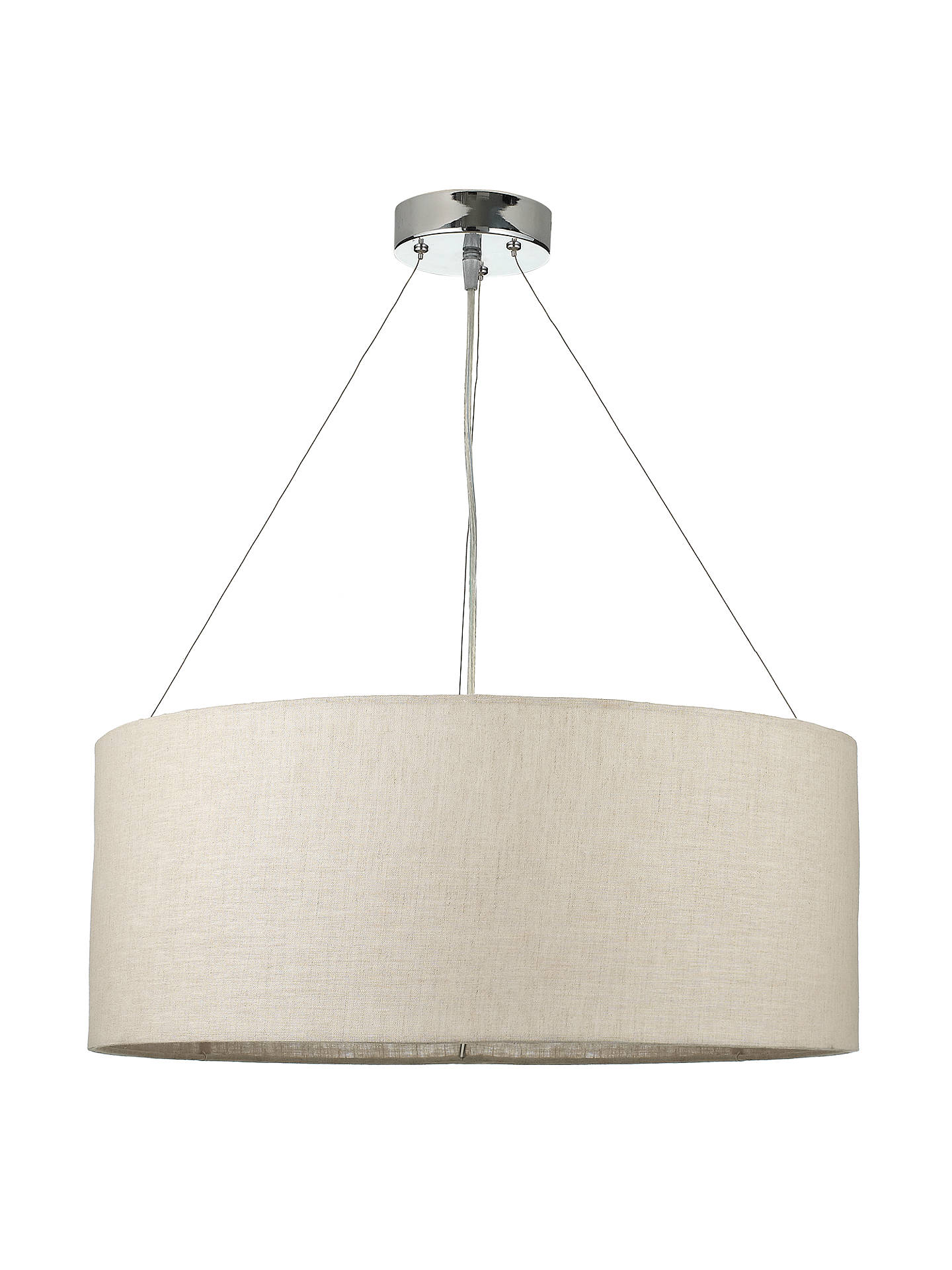 Buy john lewis partners samantha linen ceiling light online at johnlewis