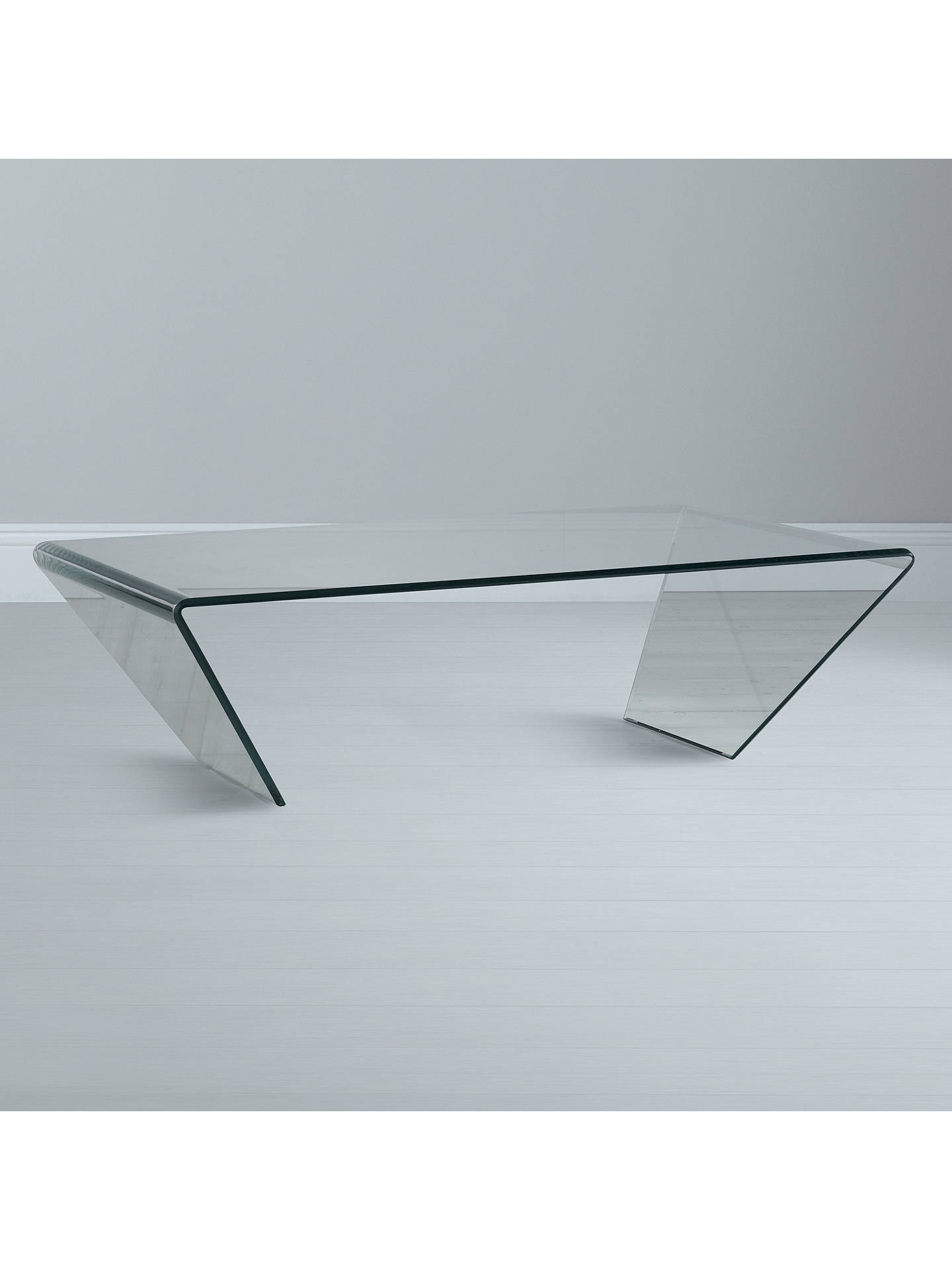 John Lewis Partners Curvo Glass Coffee Table At John Lewis