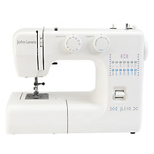 Buy John Lewis JL110 Sewing Machine, White Online at johnlewis.com